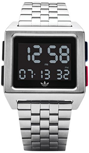 Adidas Men's Digital Watch with Stainless Steel Strap Z01-2924-00 ()