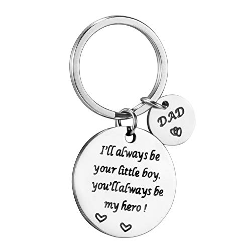 Fathers Day Gifts Keychain Dad New Present Idea from Daughter Son Kids Wife, Christmas Birthday Valentines Fathers Day Gift