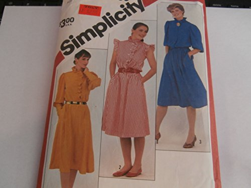 Simplicity 5755 Misses 6-8-10 Ruffled Stand Collar Into Front Button Bodice Has Cap Ruffle or 3/4 Sleeves, Sewing Pattern