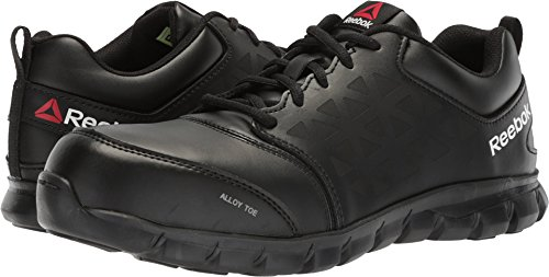 Reebok Work Mens Sublite Cushion Work Work/Duty Athletic & Sneakers Black - Athletic Mens Slip
