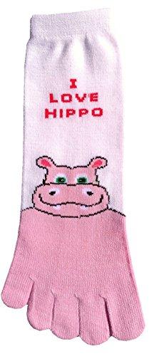 473377f33c0 I Love Hippo Adult Toe Socks New Gift Fun Unique Cute