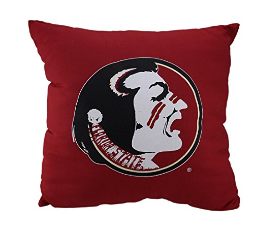 Cotton Sports Fan Throw Pillows Ncaa Florida State University Seminoles Team Color Throw Pillow 18 Inch 18 X 18 X 5.5 Inches Red