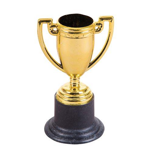 """4"""" Gold Tone Plastic Trophy (12 Pieces)"""