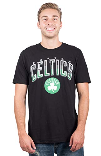 Ultra Game NBA Boston Celtics Men's Arched Plexi Short Sleeve Tee Shirt, Large, Black