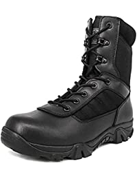 0e7c943ddb57fe Men s 8 Inch Military Tactical Boots Combat Desert Duty Work Shoes with  Side Zipper