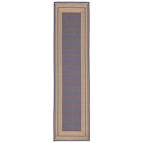 Liora Manne TERR8276153 2761/53 Topaz Terrace Casual Etched Border Indoor/Outdoor Runner Rug, 23
