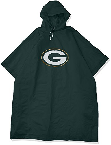 Officially Licensed NFL Green Bay Packers Deluxe Poncho