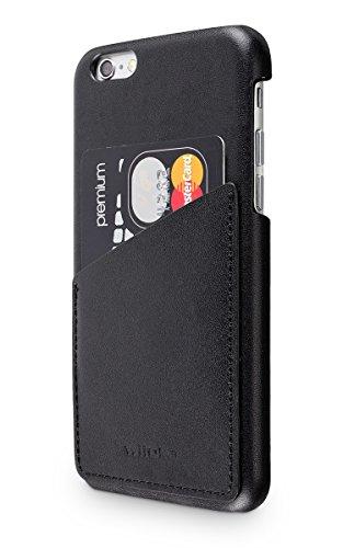 """wiiuka Echt Lederhülle TOUCH Apple iPhone 6S Plus und iPhone 6 Plus (5.5"""") mit Kartenfach Schwarz extra Dünn Premium Design Leder Hülle"""