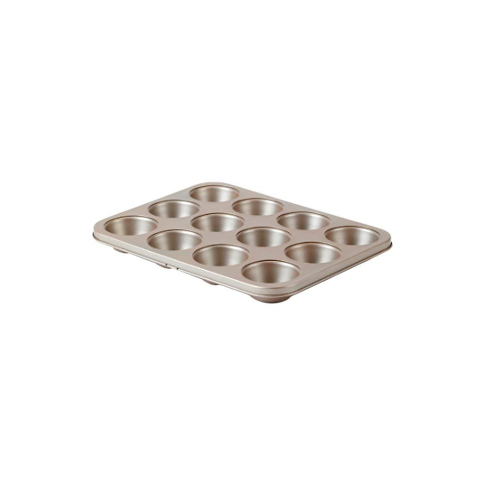 David Burke Kitchen Commerical Weight 12 Cup Muffin Pan Bronze Bakeware