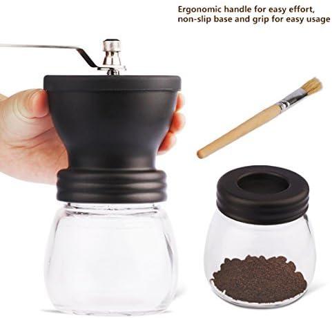 Keramikmahlwerk IB MANUELLE KAFFEEMÜHLE Handmühle Kaffee HANDKAFFEEMÜHLE GLAS