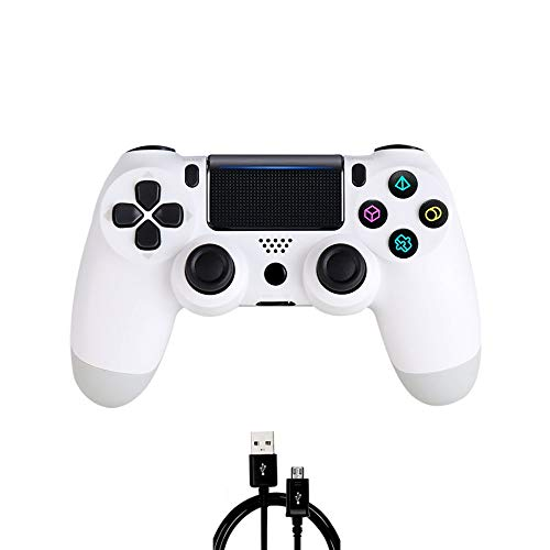 PS4 Controller MOVONE Wireless Controller with USB Cable for Playstation 4 (White)