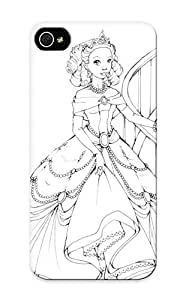 Design For Iphone 5/5s Premium Tpu Case Cover Barbie Princes Genevieve Coloring Page Coloring Page With Princess Protective Case