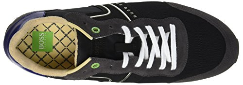 BOSS Green Men's Parkour_Runn_nymx 10191435 01 Low-Top Sneakers, Green Grey (Dark Grey)