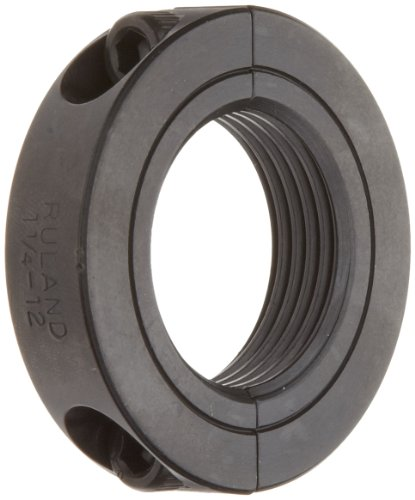 (Ruland TSP-24-12-F Two-Piece Clamping Shaft Collar, Threaded, Black Oxide Steel, 1.500