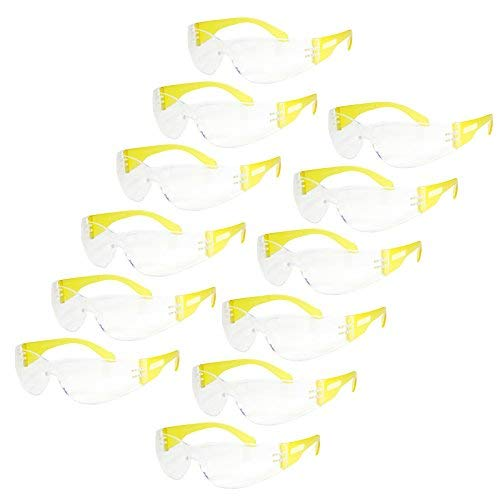 (JORESTECH Eyewear Protective Safety Glasses, Polycarbonate Impact Resistant Lens Pack of 12 (Clear, Yellow))