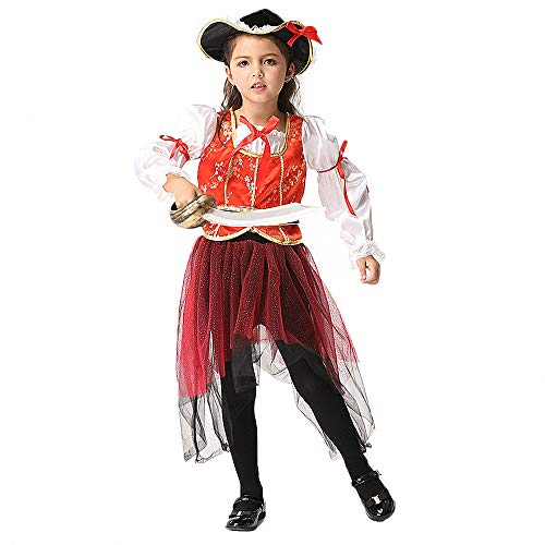 Ytwysj Costumes for Girls,Teenage Girls 2018 Halloween Cosplay Pirate Princess Costume Fancy Party Dress Outfits]()