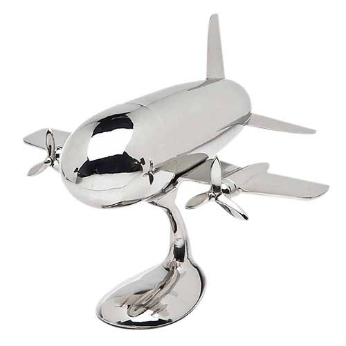 Art Collector Plate Collection (GODINGER SILVER ART Airplane Shaker on Stand)
