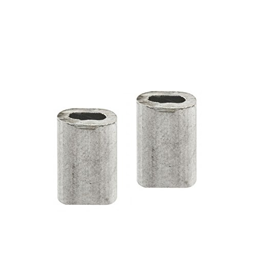 Cable Ferrules, 3/8'', Extruded Aluminum, Pack of 20