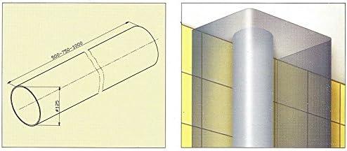 FABER S.p.A. 112.0157.308 Extensión de tubo accesorio para campana de estufa - Accesorio para chimenea (Extensión de tubo, 1000 mm, 12,5 cm, 1 pieza(s)): Amazon.es: Hogar