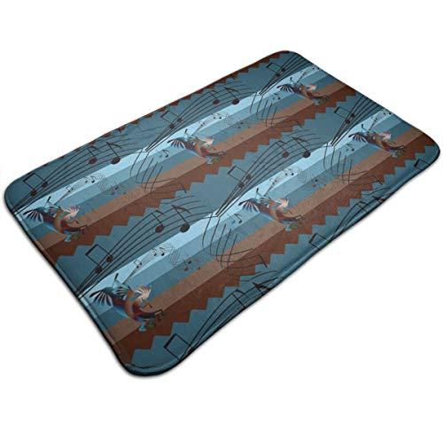 YafukeMao Kokopelli Southwest Music Musical Note Doormat Entrance Mat Floor Mat Rug Indoor/Outdoor/Front Door/Bathroom Mats Non Slip 36
