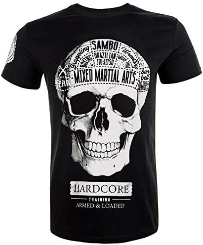 男性用Tシャツ- Hardcore Training T-Shirt Fear Zero フィットネスMMA BJJ ボクシング 着なし 運動 クロスフィット アクティブ