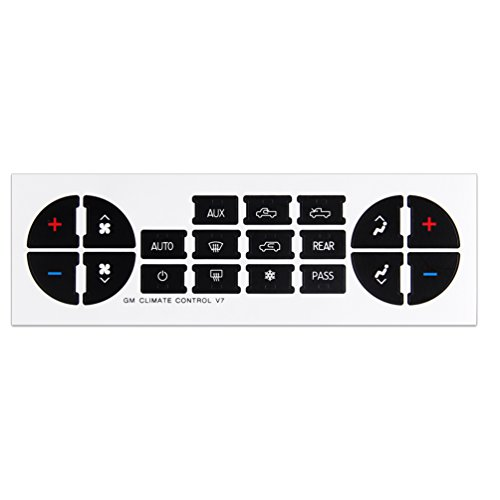 Ac Dash Button Repair Kit Replacement Decal Stickers For
