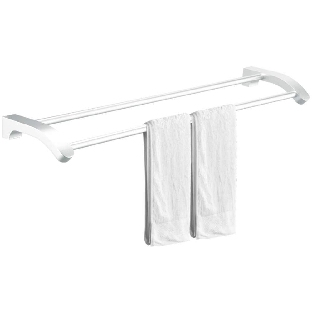 Amgend Espacio Toallero De Aluminio Toallero Soporte Baño Accesorios De Hardware Toalla Colgando Baño Colgante Doble Polo