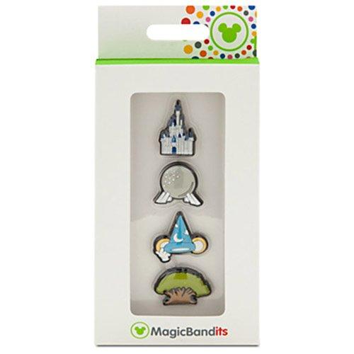 Walt Disney World Four Parks Icon Magic Band Bandits Set of 4 NEW - Disneyworld Kingdom Magic