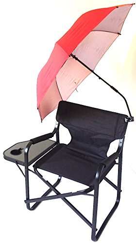 TuscanyPro Heavy Duty CAPTAIN Chair W/ REMOVABLE UMBRELLA--10 Years Warranty--High Quality Product--300 LB. MAX WEIGHT CAPACITY-- XL DESIGN by Tuscany PRO
