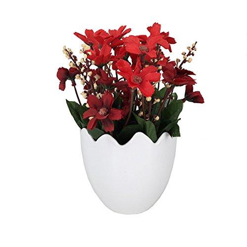 Delightful Garwarm Mini Lifelike Nature Modern Design Decorative Artificial Faux  Tabletop Plastic Silk Potted Chrysanthemum Flower Plant With Planter Pots  Vases Home ...