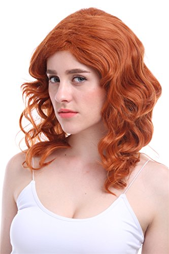 Sexy Pirate Hair (Nuoqi Anime Brownness Curly Wavy Hairs Cosplay Wig)