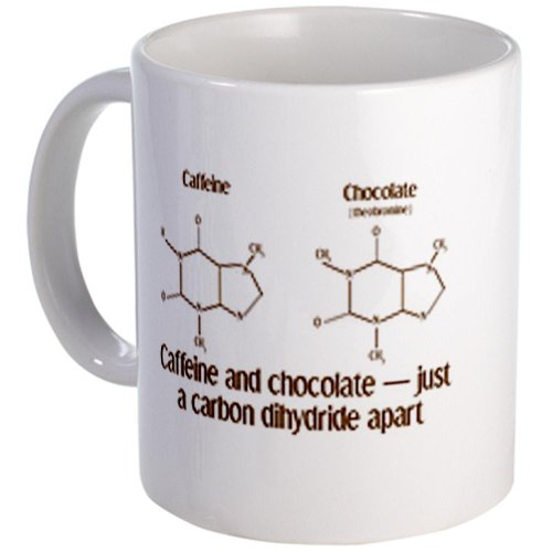 CafePress - Caffeine & Chocolate Mug - Unique Coffee Mug, 11oz Coffee Cup (Chemistry Coffee Cup compare prices)