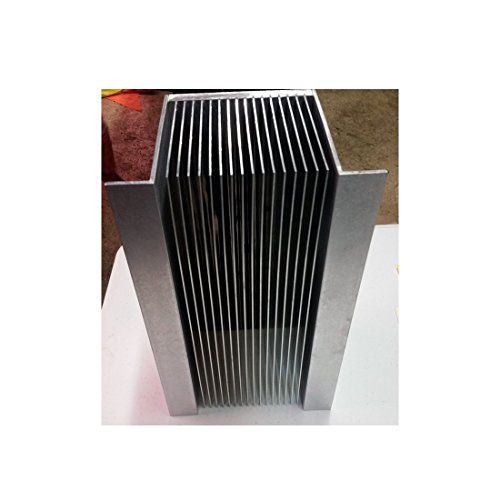 "12"" inch Aluminum High Power Bonded Fin Heat Sink Assembly for Natural or Forced Air Convection – 16 Fin with Mounting Brackets by Machtron (Image #2)"
