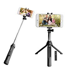 """Selfie Stick Tripod, Peyou® [3 in 1] Bluetooth Selfie Stick Extendable Monopod Handheld Tripod Stand w/ Removable Remote Shutter up to 35.4"""" for Gopro Camera, iPhone 7/7Plus 6S/6 6S Plus/6 Plus Samsung Galaxy S8/S8 Plus S7/S7 Edge and Smartphone under 6"""""""