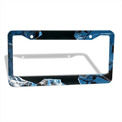 Jksytx Innovative Flat & Round Hole Car License Plate Frame Screen Broken Glass ColourName