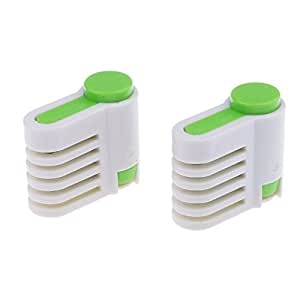 MagiDeal 2 Pieces 5 Layers DIY Cake Bread Cutter Leveler Slicer Set Cutting Fixator Tools Cake Decorating Baking Tools for Home Kitchen Coffee Cake Shop