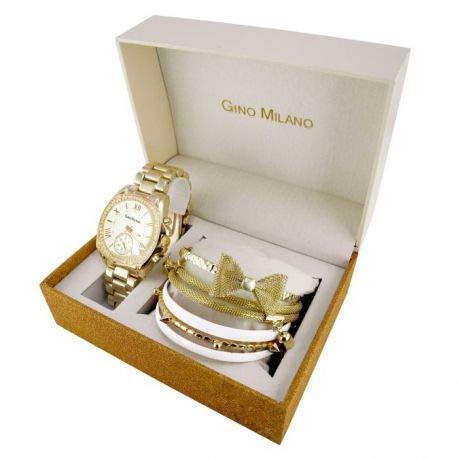 Reloj Gino Milano Mujer Cuarzo Dore en Metal   Reloj Dore