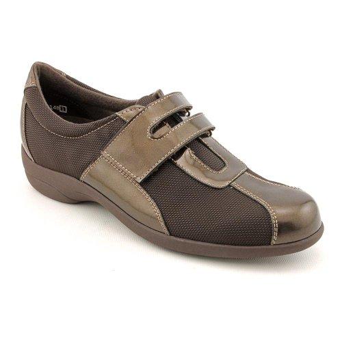 MUN JOLIE BRONZE FABRIC BRONZE PATENT SIZE 05.5 M(B) (Munro Walking Shoes)