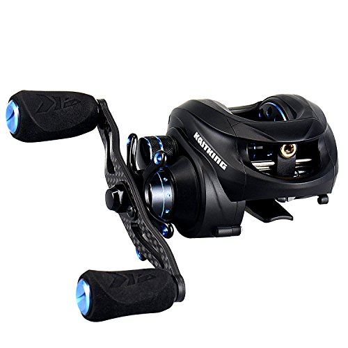 Cheap KastKing New Assassin Carbon Baitcasting Reel, Only 5.7 OZ, 16.5 LB Carbon Fiber Drag, 11+1 BB, Dual Brakes, Our Lightest Baitcaster Fishing Reel, Affordable! (Right Handed)