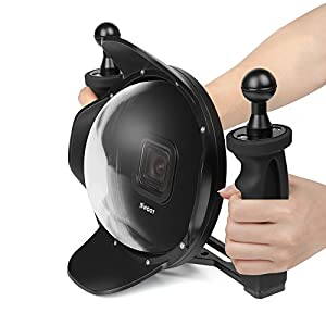 SHOOT Upgraded 5.0 Version Stabilizer Tray Dome Port for GoPro HERO 5/6/HERO(2018) Black Camera 6 inch Diving Handheld Lens Hood Dome Lens Underwater Photography