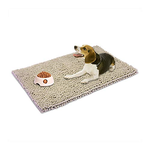 CHENILLE Hevice Extra Thick Microfiber Pet Dog Cat Mats Rugs For Food and Water Crate Machine Washable Fast Dry Non Slip…