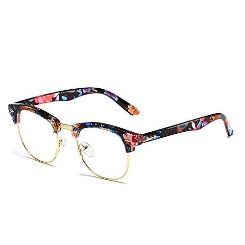 Glasses Blue Light Blocking Computer Glasses for Anti Eyestrain Anti Glare Lens Lightweight Frame Eyeglasses for Men Women Unisex (Color : Multi-Colored, Size : ()