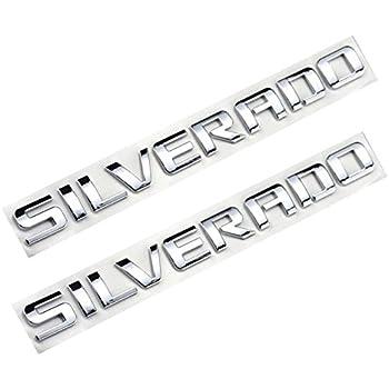 Amazon Com Partsto Silverado Nameplate Letter Script Emblems Badge