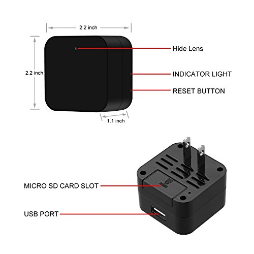 Mini Wireless IP Camera -Hidden Camera -HD 1080P-Wifi Spy Camera With Remote View App- Wall Charger Plug Motion Detection Cam For Home Security Surveillance by Bescar (Image #2)