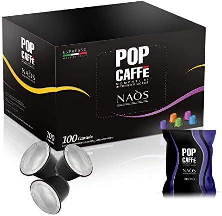 POP CAFFE' 100 CAPSULE NAOS MISCELA DECISO NESPRESSO COMPATIBILI