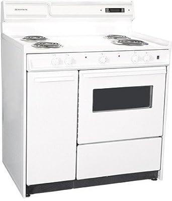 Summit WEM430KW Kitchen Electric Cooking Range, White