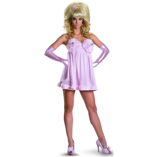 [Disguise Austin Powers Fembot Sassy Deluxe Costume, Pink, Medium/8-10] (Deluxe Sassy Fembot Costumes)