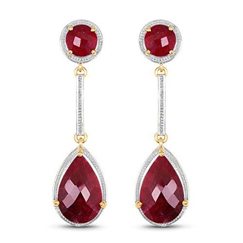 Genuine Pears Ruby Earrings in Sterling Silver by Bonyak Jewelry