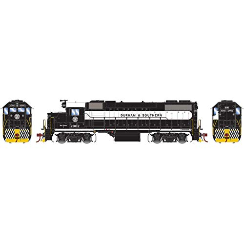 Athearn HO GP38-2 with DCC & Sound D&S Black & White #2002, ATHG65780