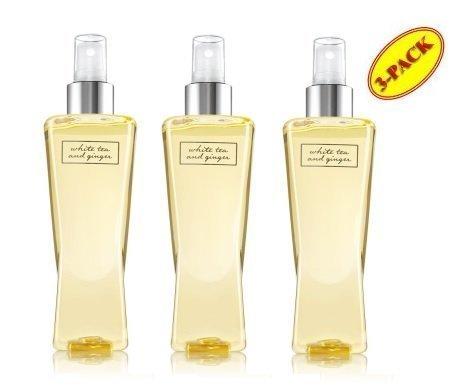 Ginger Body Spray - Bath and Body Works White Tea & Ginger Fragrance Mist Gift Set Lot of 3 Bottles Full size by N/A